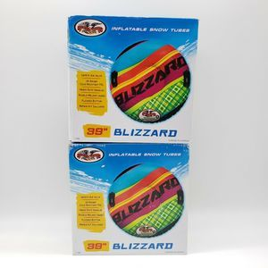 """(2) Inflatable Blizzard Snow Tube 39"""" w/ Handles"""
